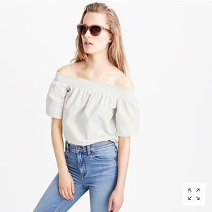 J.crew white off the shoulder top!